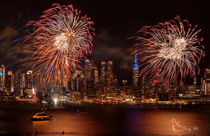 纽约庆祝中国新年烟花汇演_图1-4