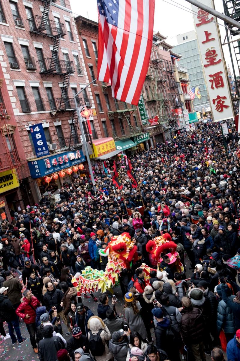 美國春節好熱鬧    ----紐約曼哈頓唐人街大年初一 20170128_图1-1