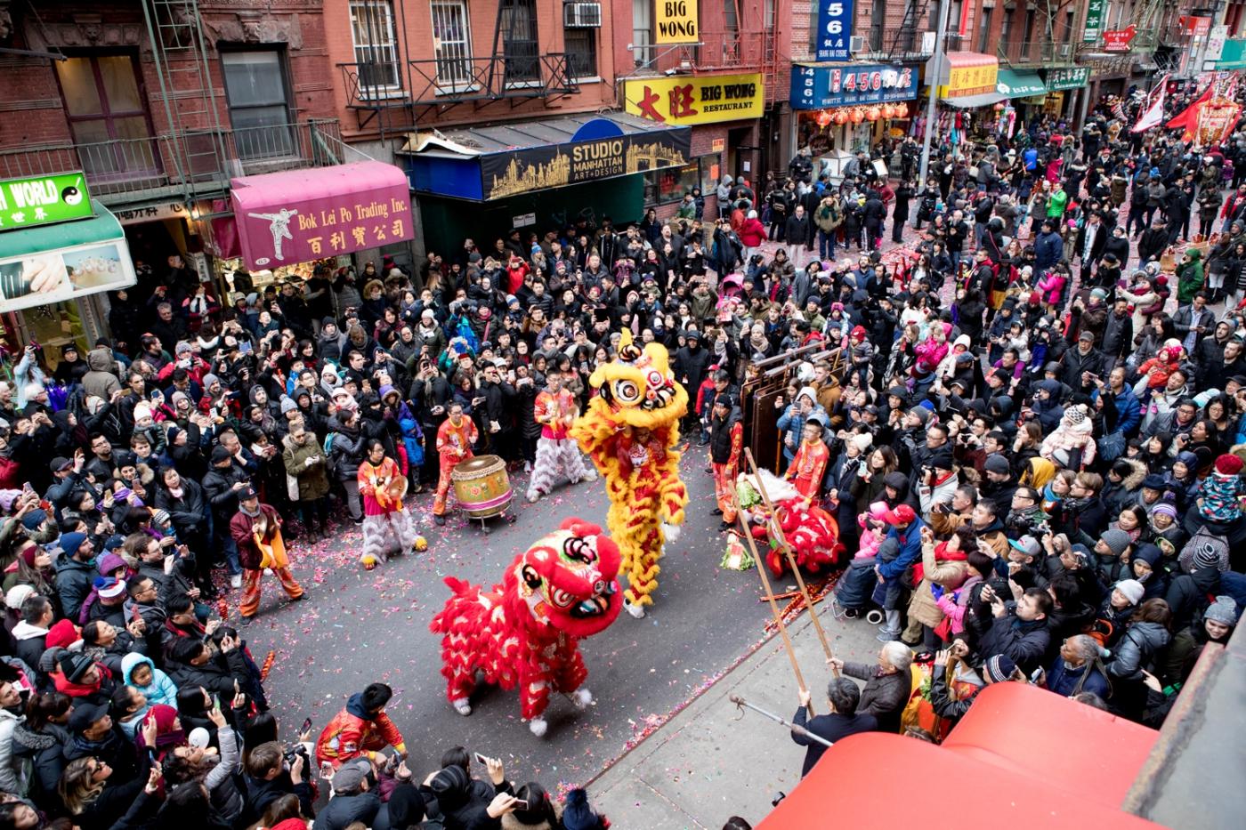 美國春節好熱鬧    ----紐約曼哈頓唐人街大年初一 20170128_图1-20