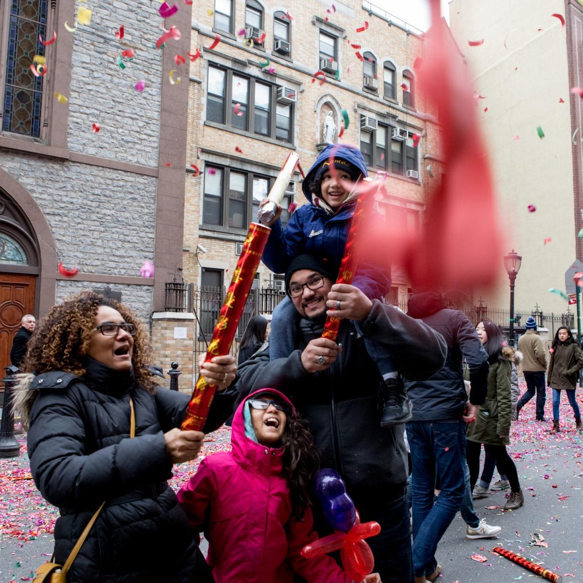 美國春節好熱鬧    ----紐約曼哈頓唐人街大年初一 20170128_图1-35