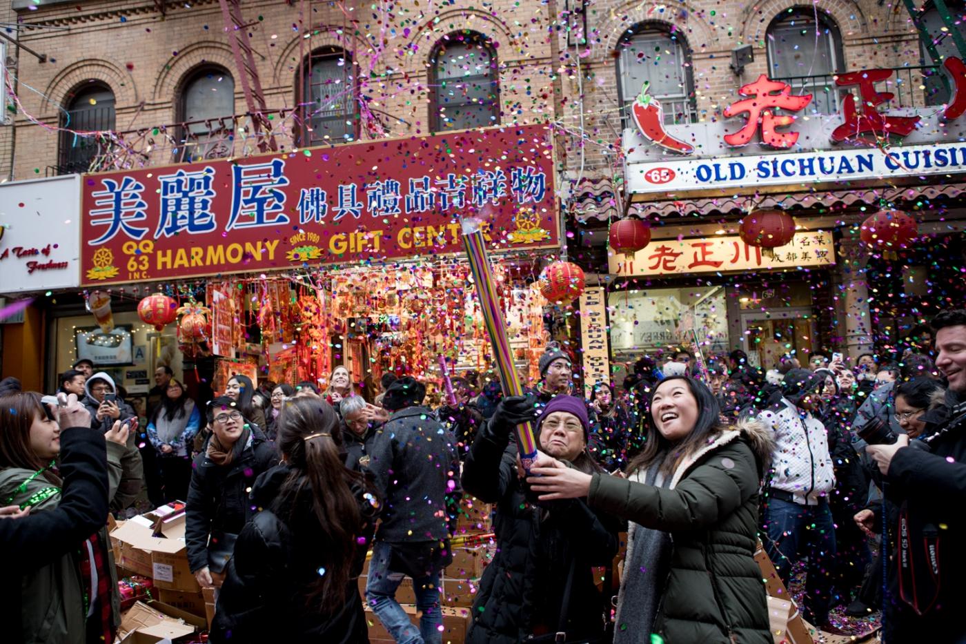 美國春節好熱鬧    ----紐約曼哈頓唐人街大年初一 20170128_图1-42