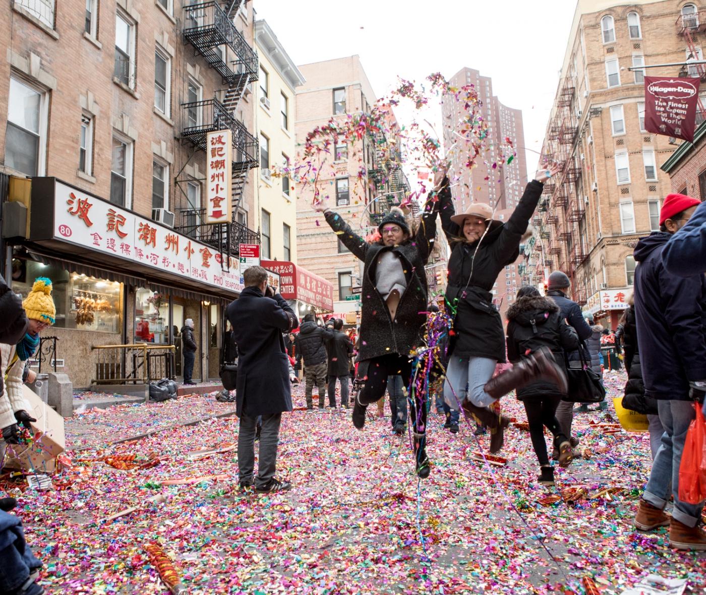 美國春節好熱鬧    ----紐約曼哈頓唐人街大年初一 20170128_图1-52