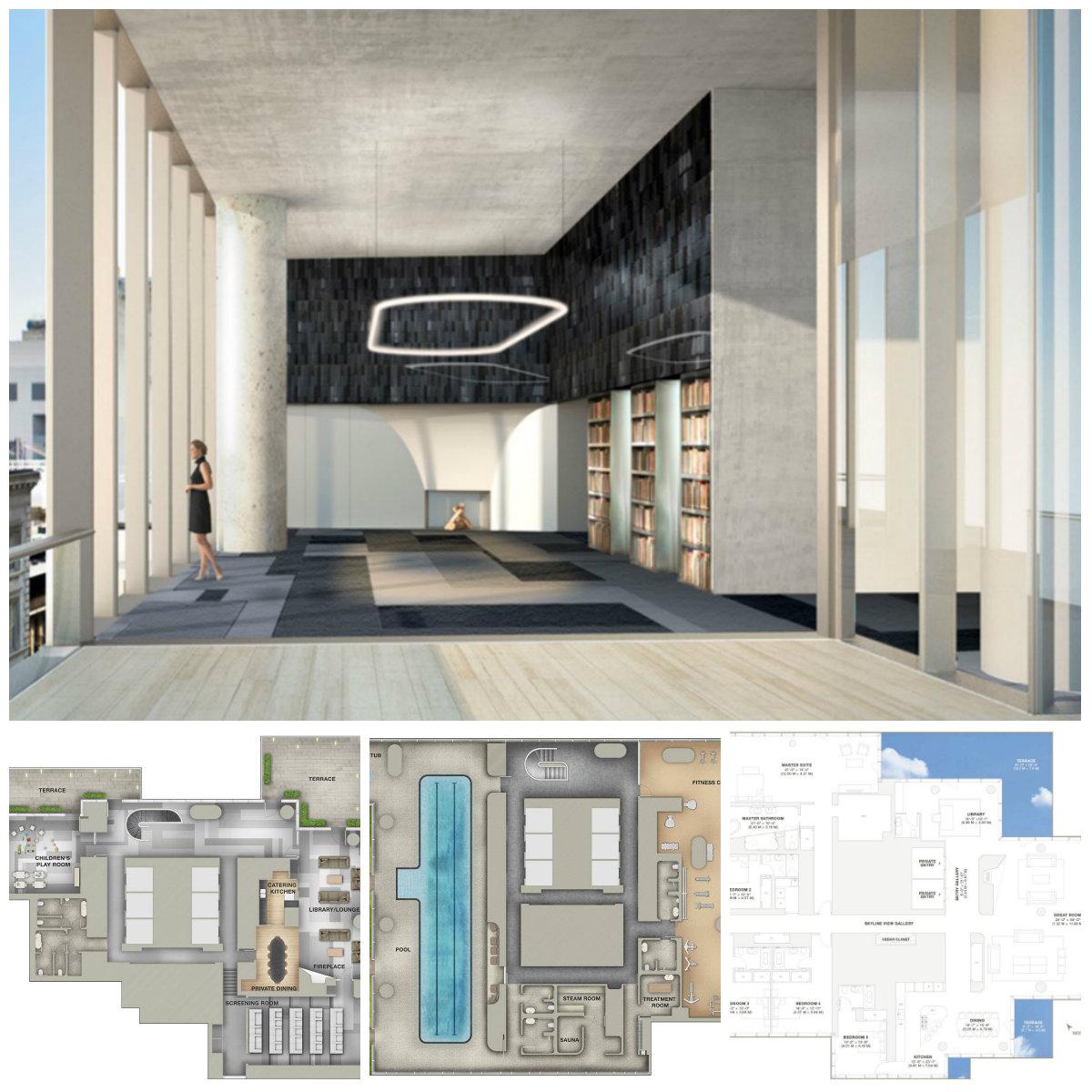 神秘买家投资5300多万美元买下曼哈顿翠贝卡街区全新奇特公寓层叠大厦的PH53和54!(草稿 ..._图1-13