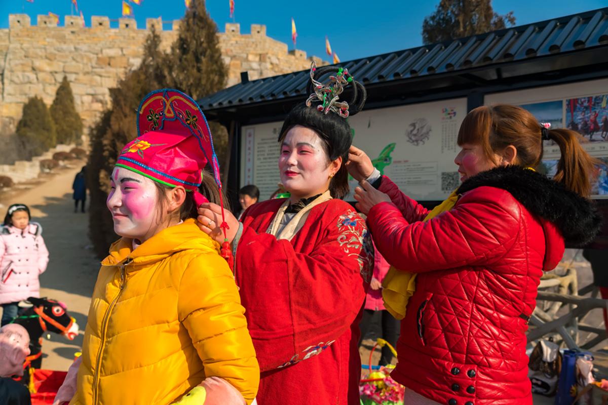 沂蒙山区仅存的活着的图腾正月初六在泉庄全景展示_图1-2