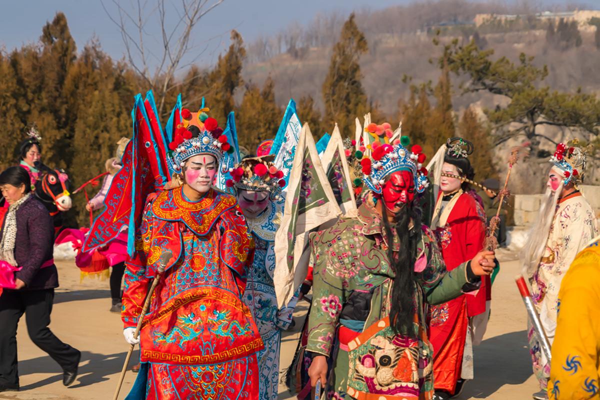 沂蒙山区仅存的活着的图腾正月初六在泉庄全景展示_图1-4