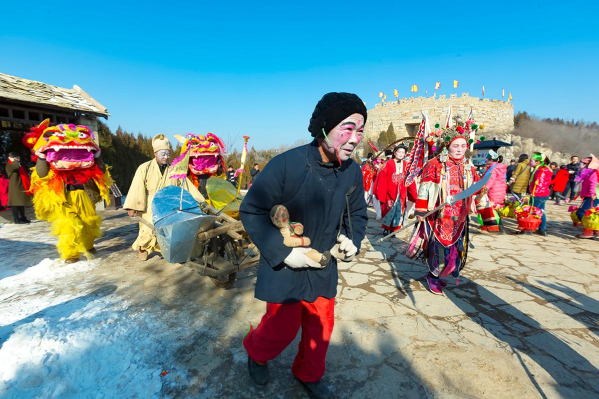 沂蒙山区仅存的活着的图腾正月初六在泉庄全景展示_图1-20