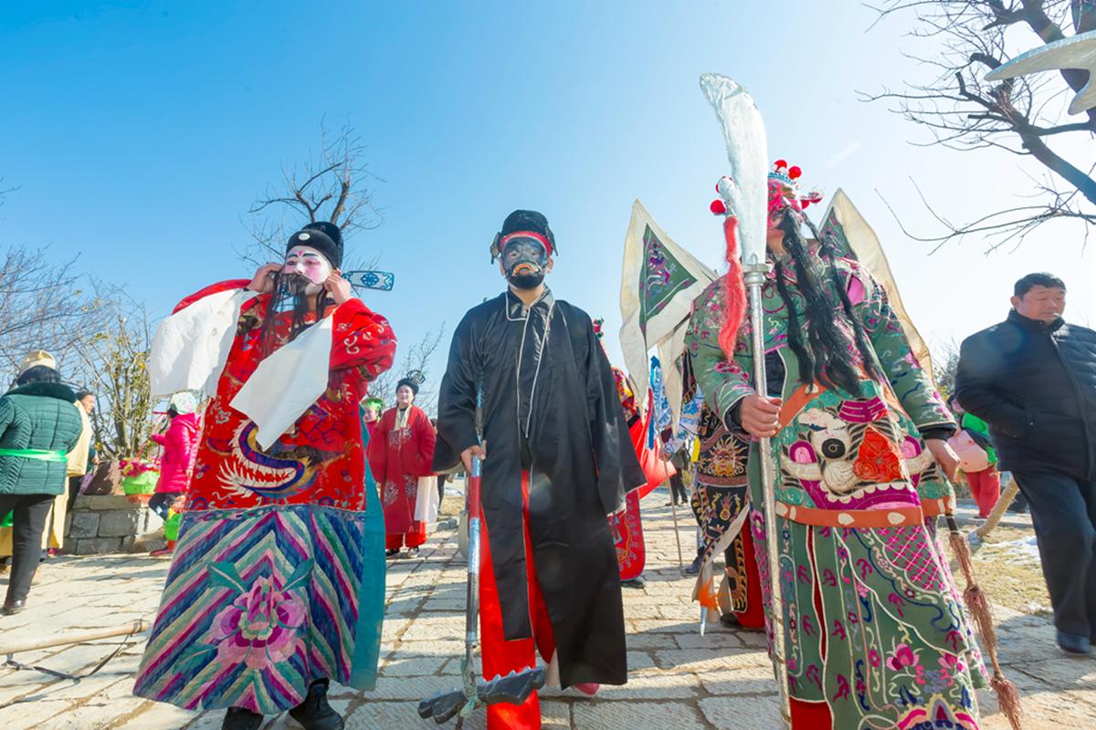沂蒙山区仅存的活着的图腾正月初六在泉庄全景展示_图1-28