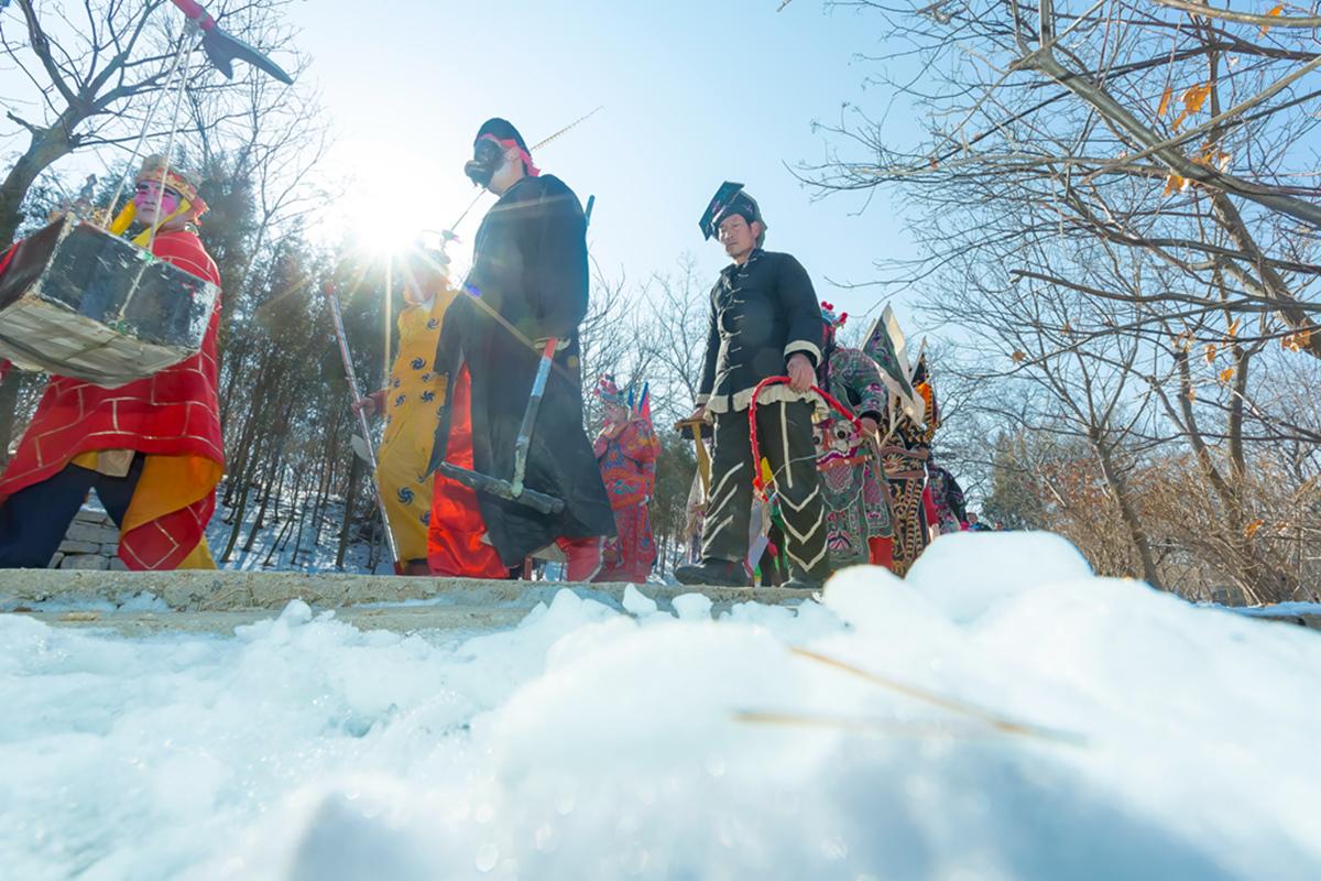 沂蒙山区仅存的活着的图腾正月初六在泉庄全景展示_图1-33