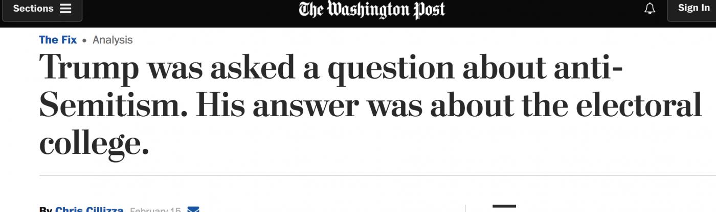讲真,川普可能是世界上最爱答非所问的总统_图1-2