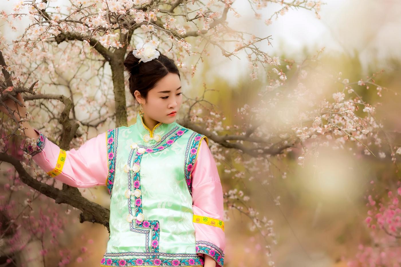 沂水雪山梅园走来一群赏梅踏春的沂蒙女孩 摄影人和女孩们成为梅园一道亮丽的风景线 ..._图1-4