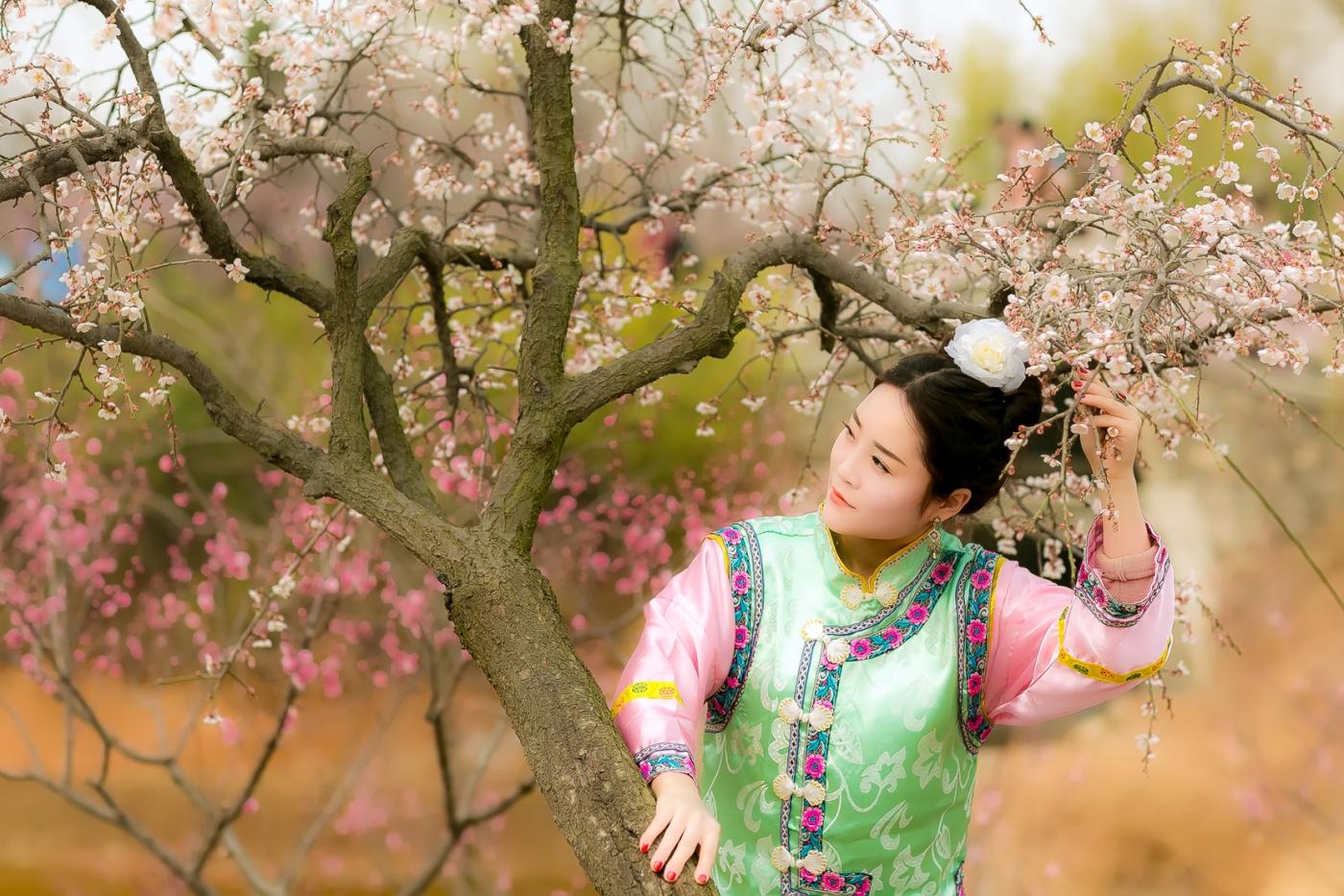沂水雪山梅园走来一群赏梅踏春的沂蒙女孩 摄影人和女孩们成为梅园一道亮丽的风景线 ..._图1-6