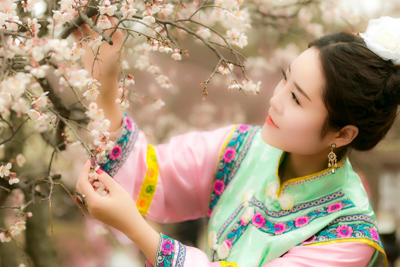 沂水雪山梅园走来一群赏梅踏春的沂蒙女孩 摄影人和女孩们成为梅园一道亮丽的风景线 ..._图1-10