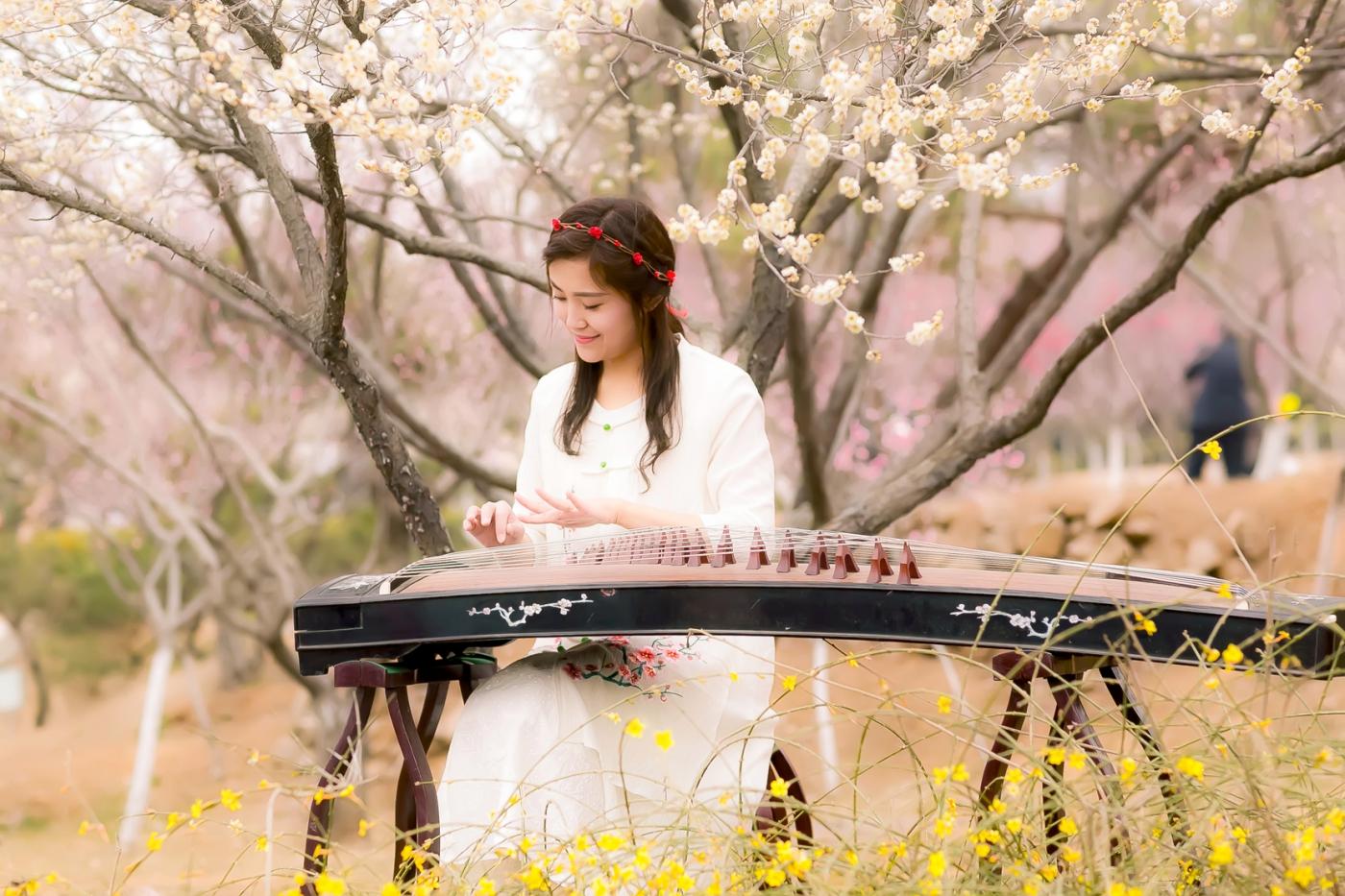 沂水雪山梅园走来一群赏梅踏春的沂蒙女孩 摄影人和女孩们成为梅园一道亮丽的风景线 ..._图1-14