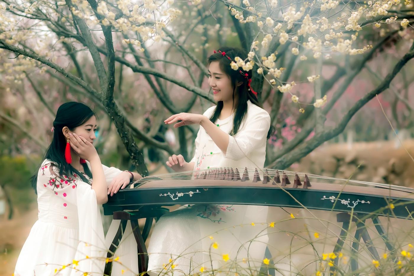沂水雪山梅园走来一群赏梅踏春的沂蒙女孩 摄影人和女孩们成为梅园一道亮丽的风景线 ..._图1-17