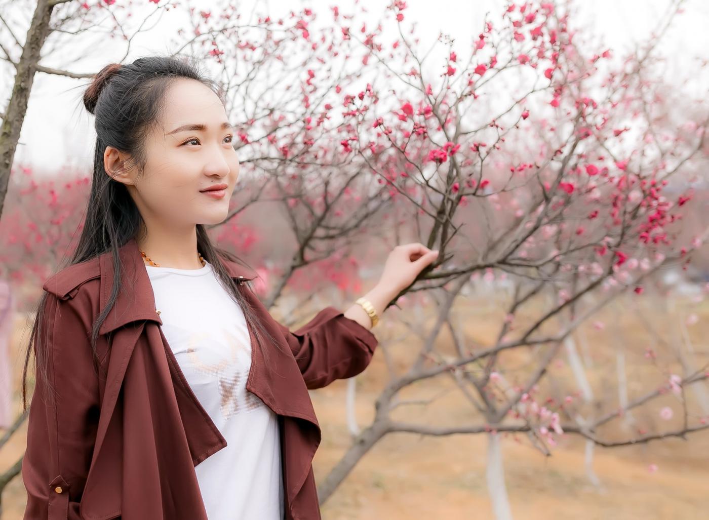 沂水雪山梅园走来一群赏梅踏春的沂蒙女孩 摄影人和女孩们成为梅园一道亮丽的风景线 ..._图1-23