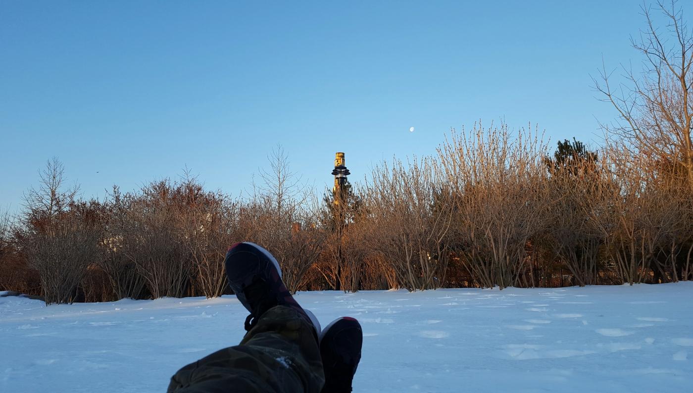 【田螺摄影】躺着拍月落、趴着拍日出_图1-4