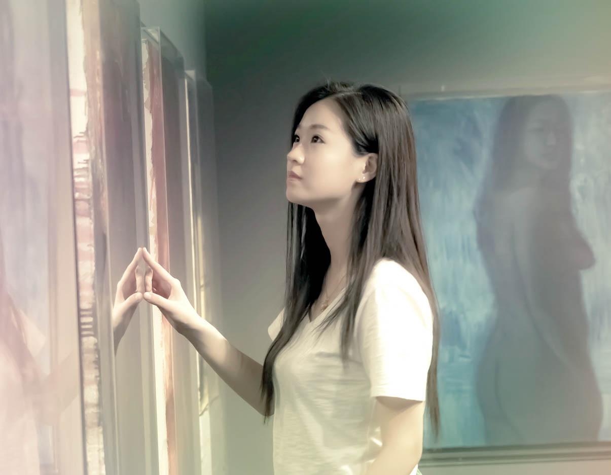 临沂女孩苏韵涵之穿过千山万水只为了你的画展_图1-8