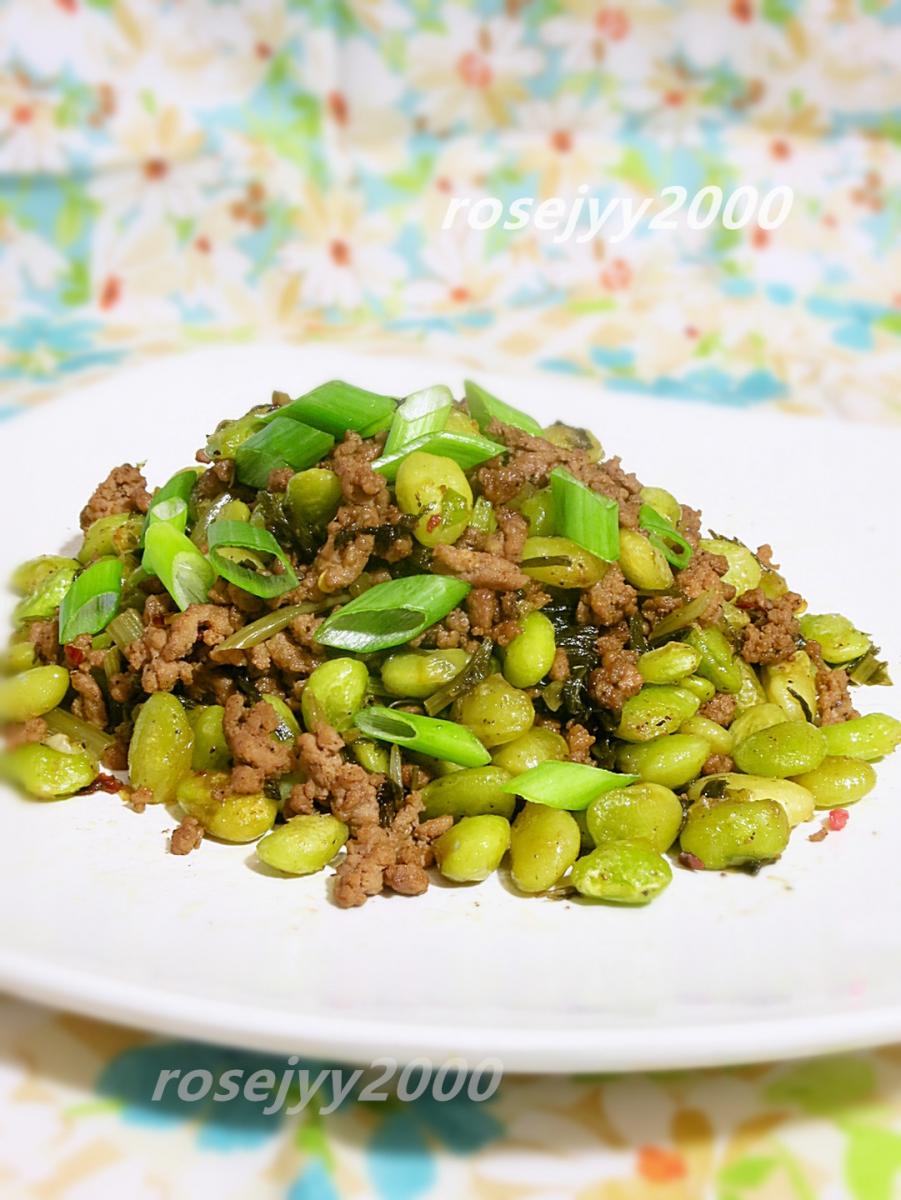 雪菜利马豆炒牛肉末_图1-5