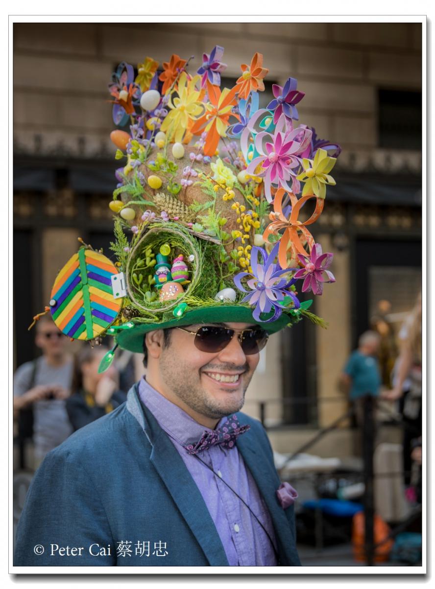 """纽约复活节游行,上演""""最新奇别致的帽子""""_图1-8"""
