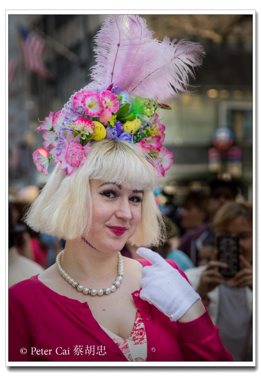 """纽约复活节游行,上演""""最新奇别致的帽子""""_图1-12"""