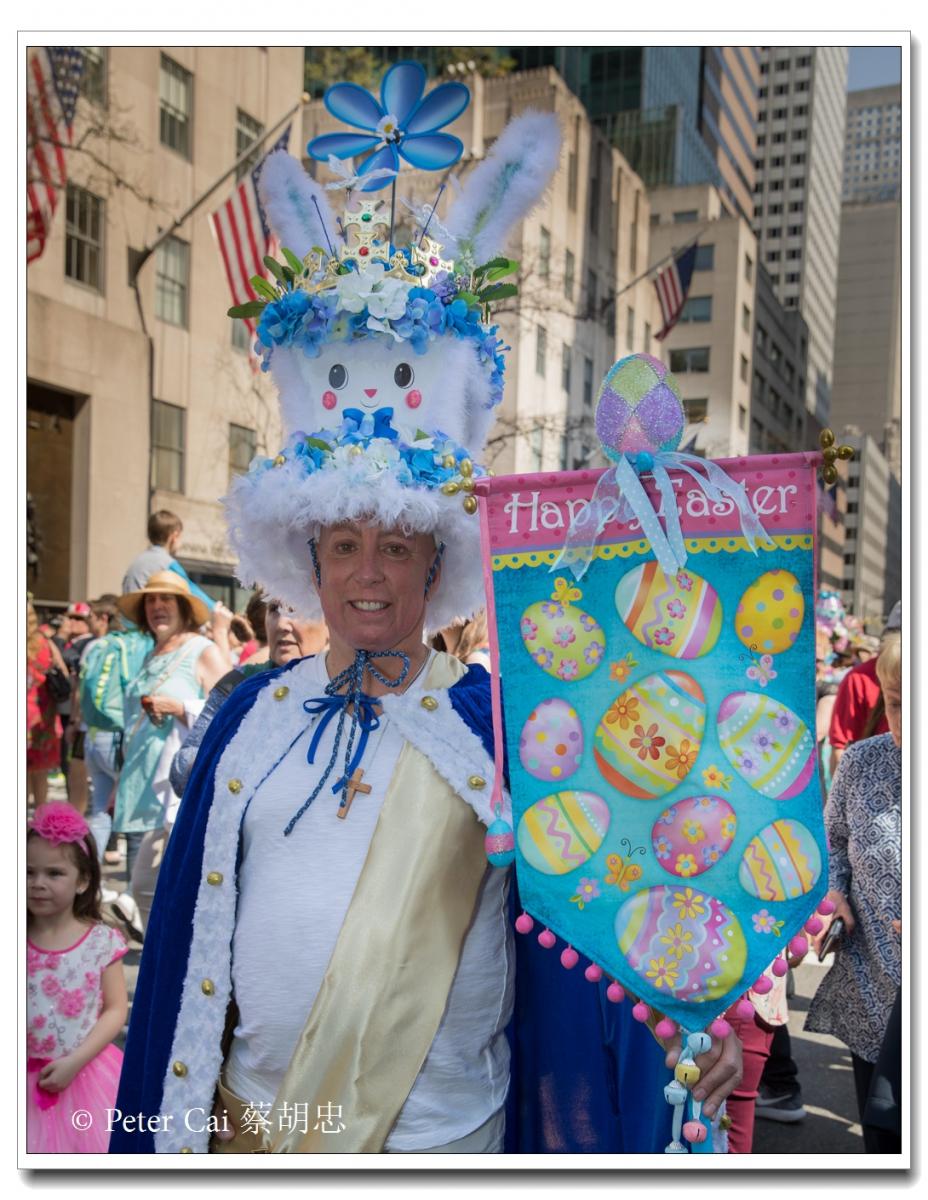 """纽约复活节游行,上演""""最新奇别致的帽子""""_图1-13"""