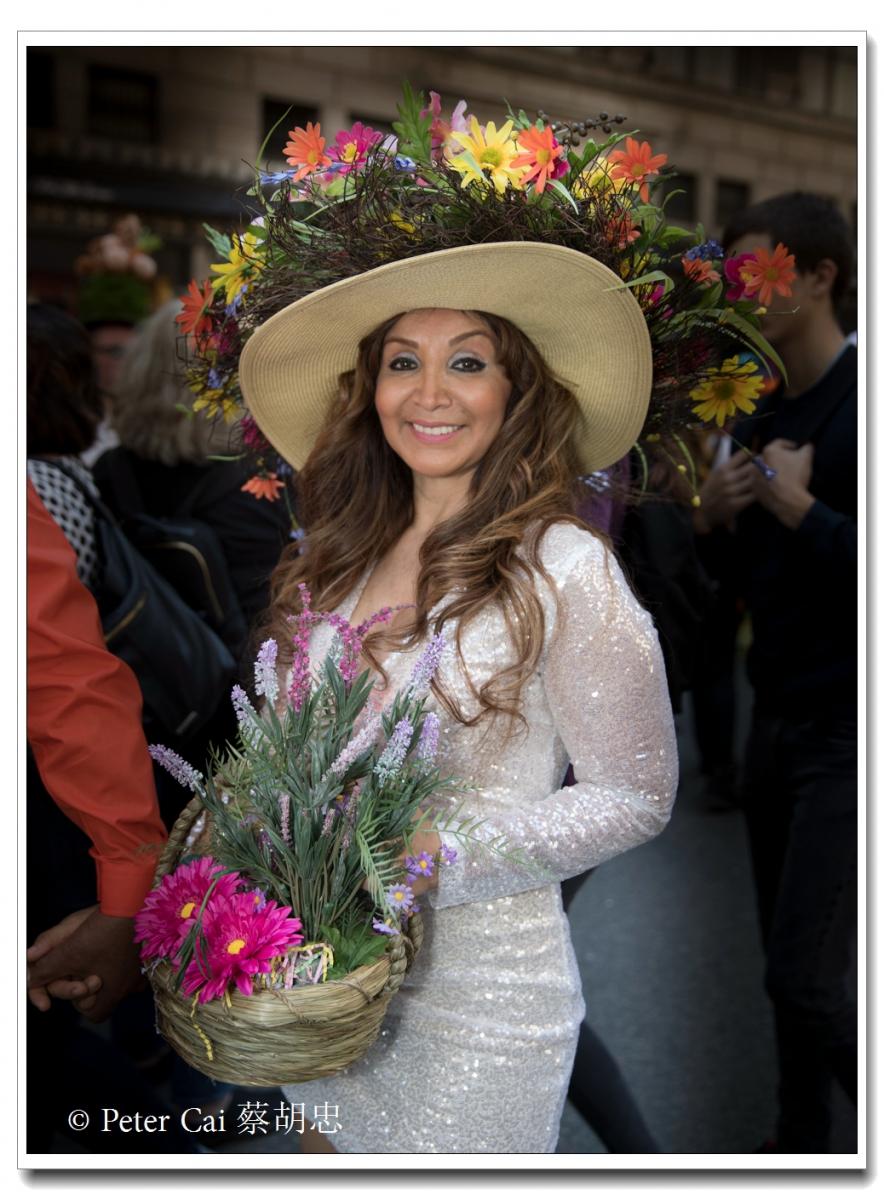 """纽约复活节游行,上演""""最新奇别致的帽子""""_图1-14"""