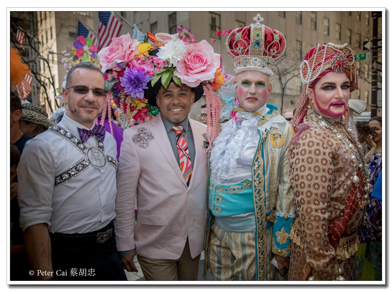 """纽约复活节游行,上演""""最新奇别致的帽子""""_图1-20"""