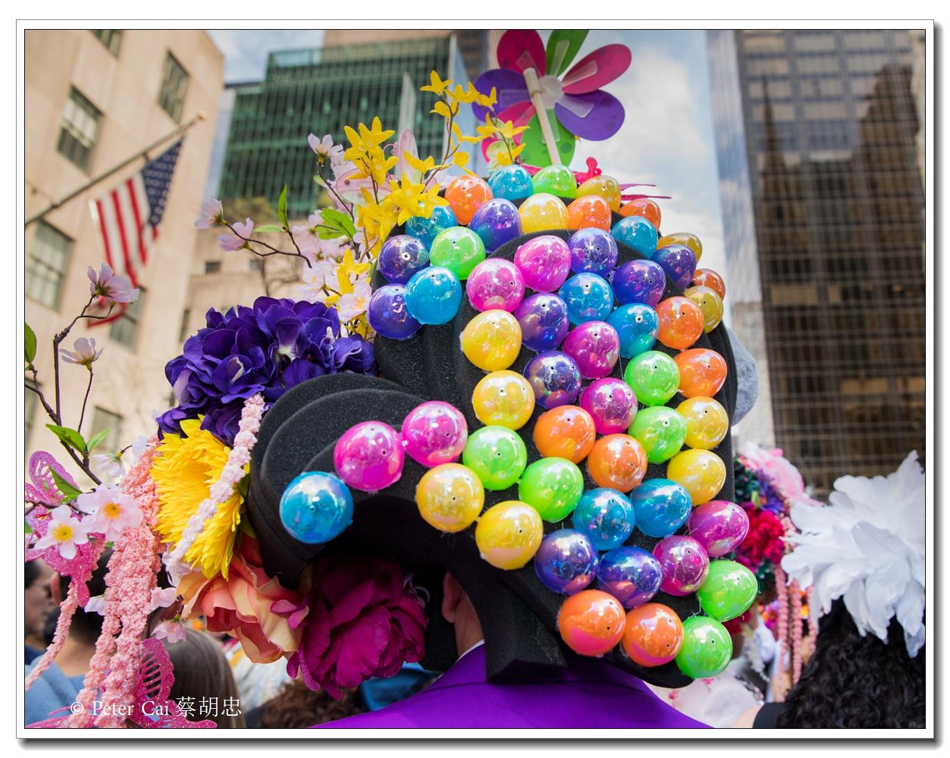 """纽约复活节游行,上演""""最新奇别致的帽子""""_图1-22"""