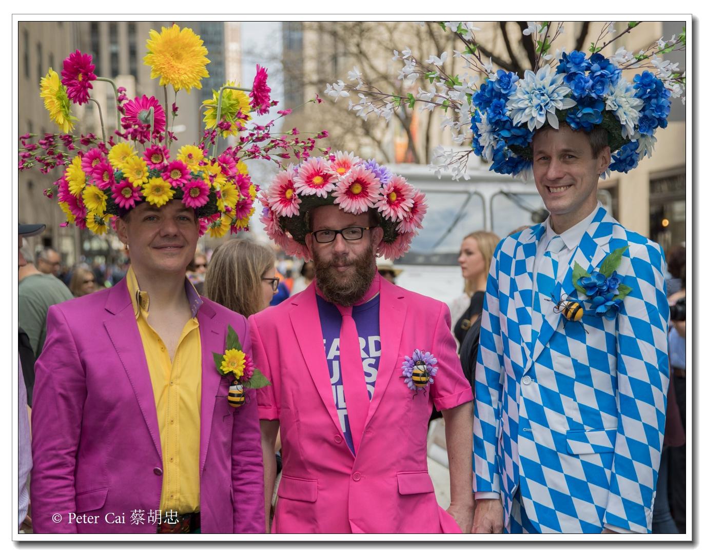 """纽约复活节游行,上演""""最新奇别致的帽子""""_图1-24"""