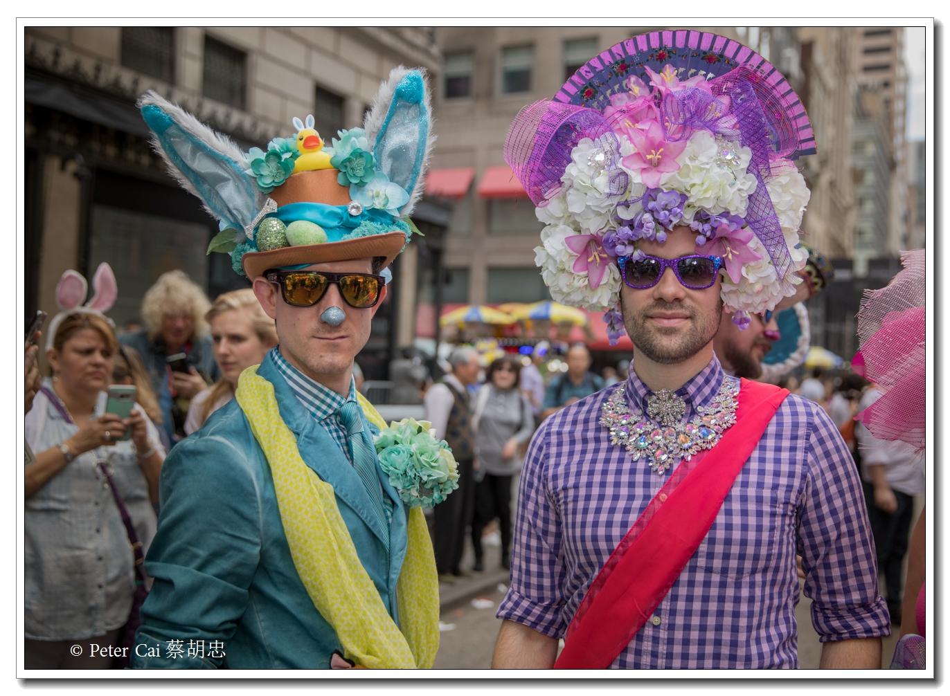 """纽约复活节游行,上演""""最新奇别致的帽子""""_图1-27"""