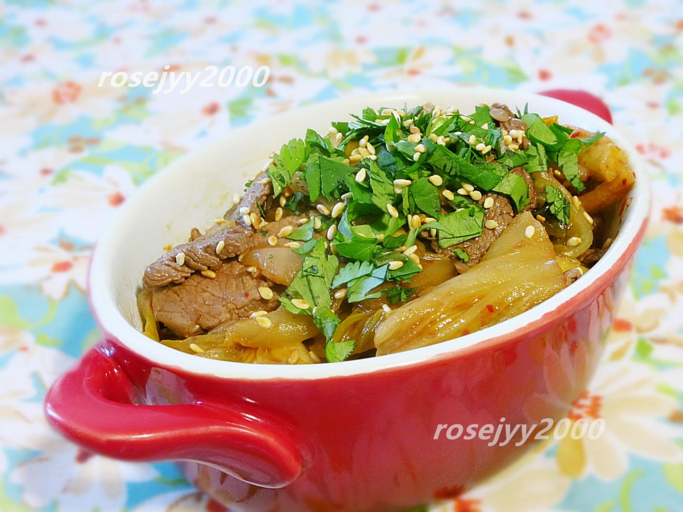 韩式泡菜炒牛肉_图1-1