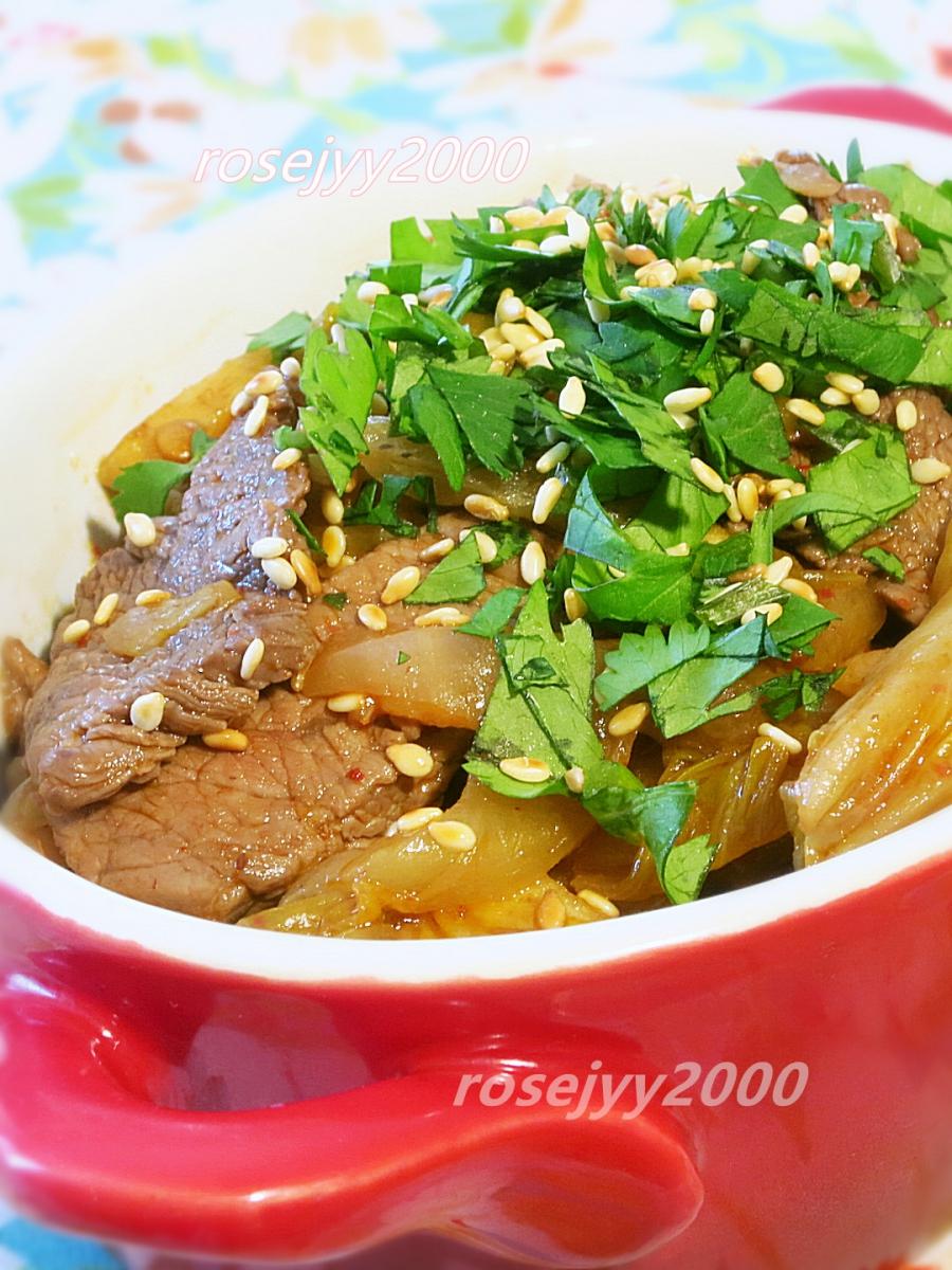 韩式泡菜炒牛肉_图1-3