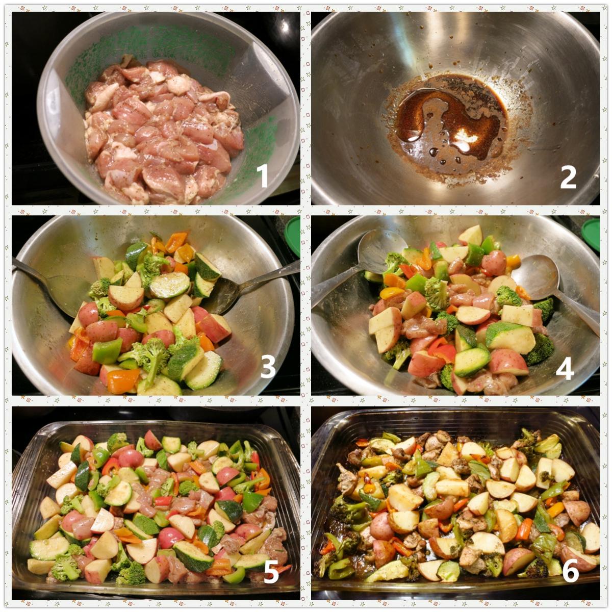 鸡肉时蔬烤箱菜_图1-2