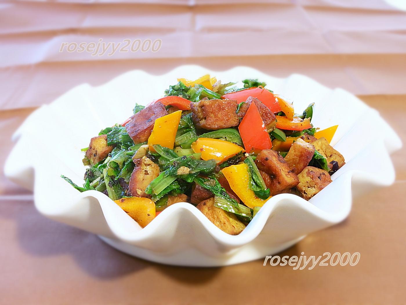 油麦菜炒豆干_图1-1
