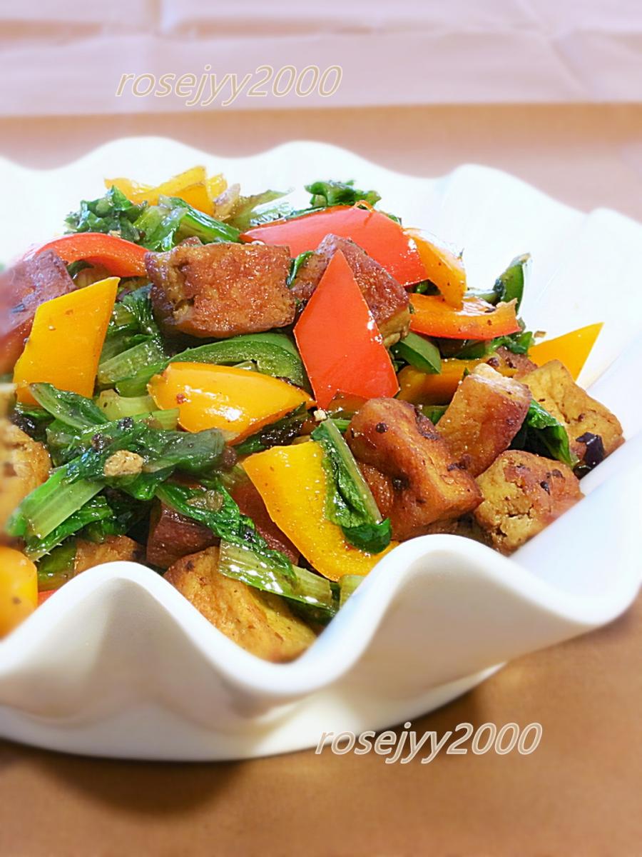 油麦菜炒豆干_图1-3