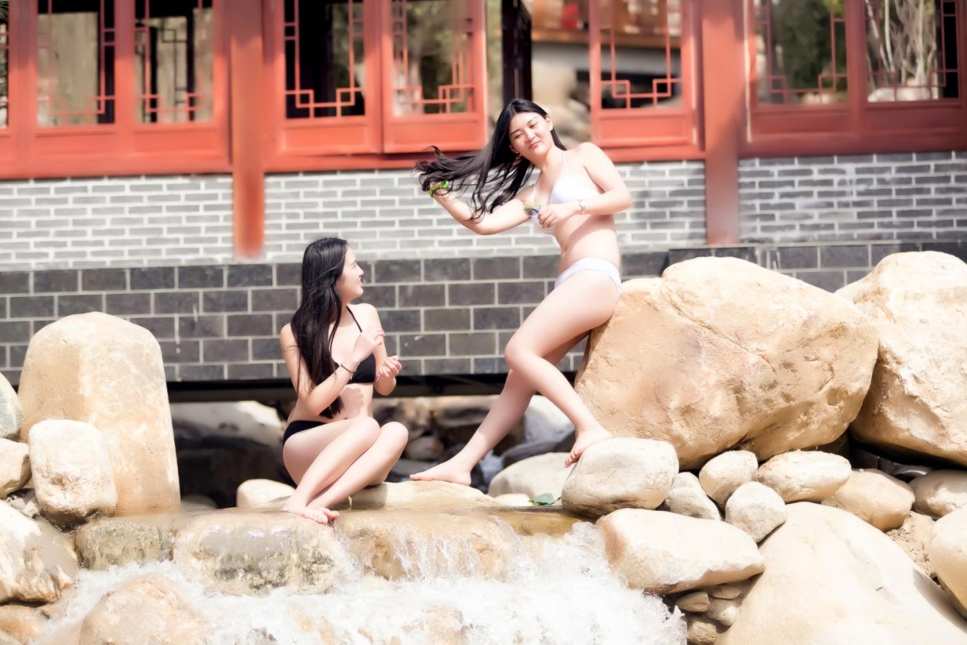 在临沂蒙山康谷温泉 与22位泳装女孩相遇在这里_图1-29