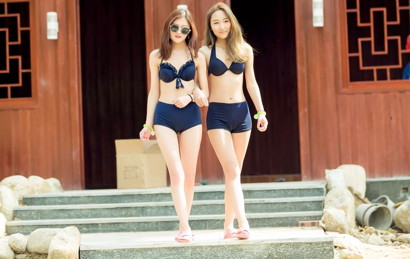 在临沂蒙山康谷温泉 与22位泳装女孩相遇在这里_图1-31