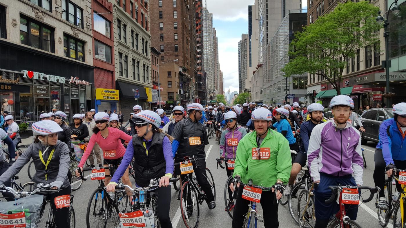 【田螺随拍】今天纽约单车马拉松_图1-1