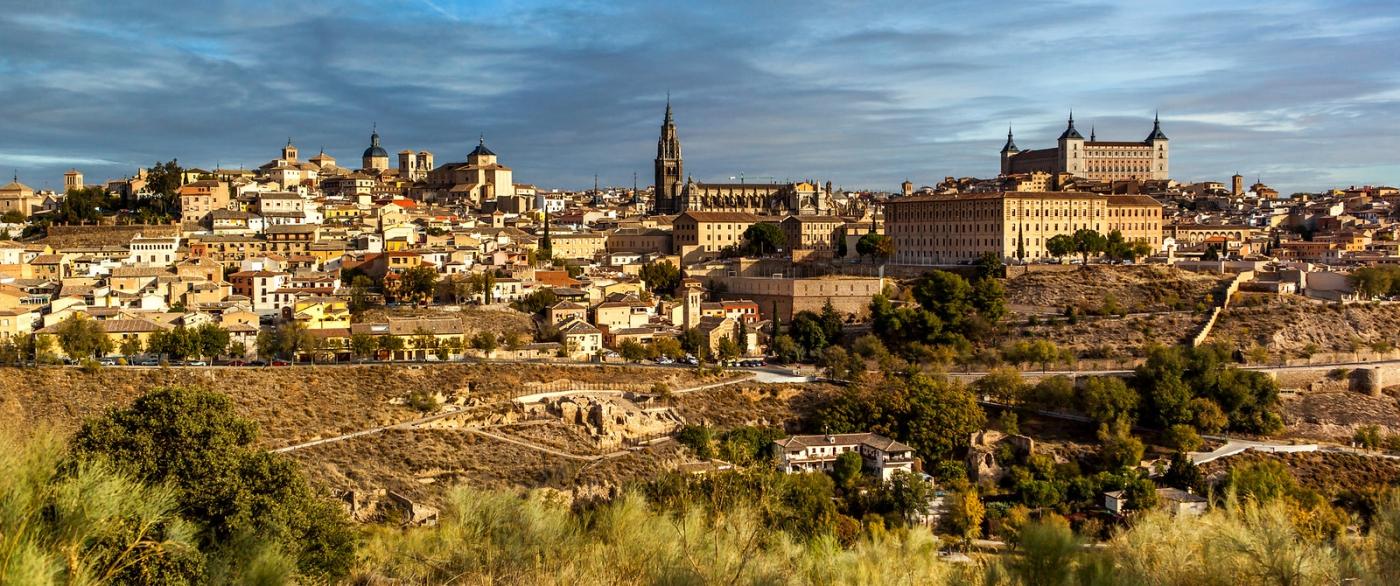 鸟瞰西班牙小市-托莱多(Toledo)_图1-2