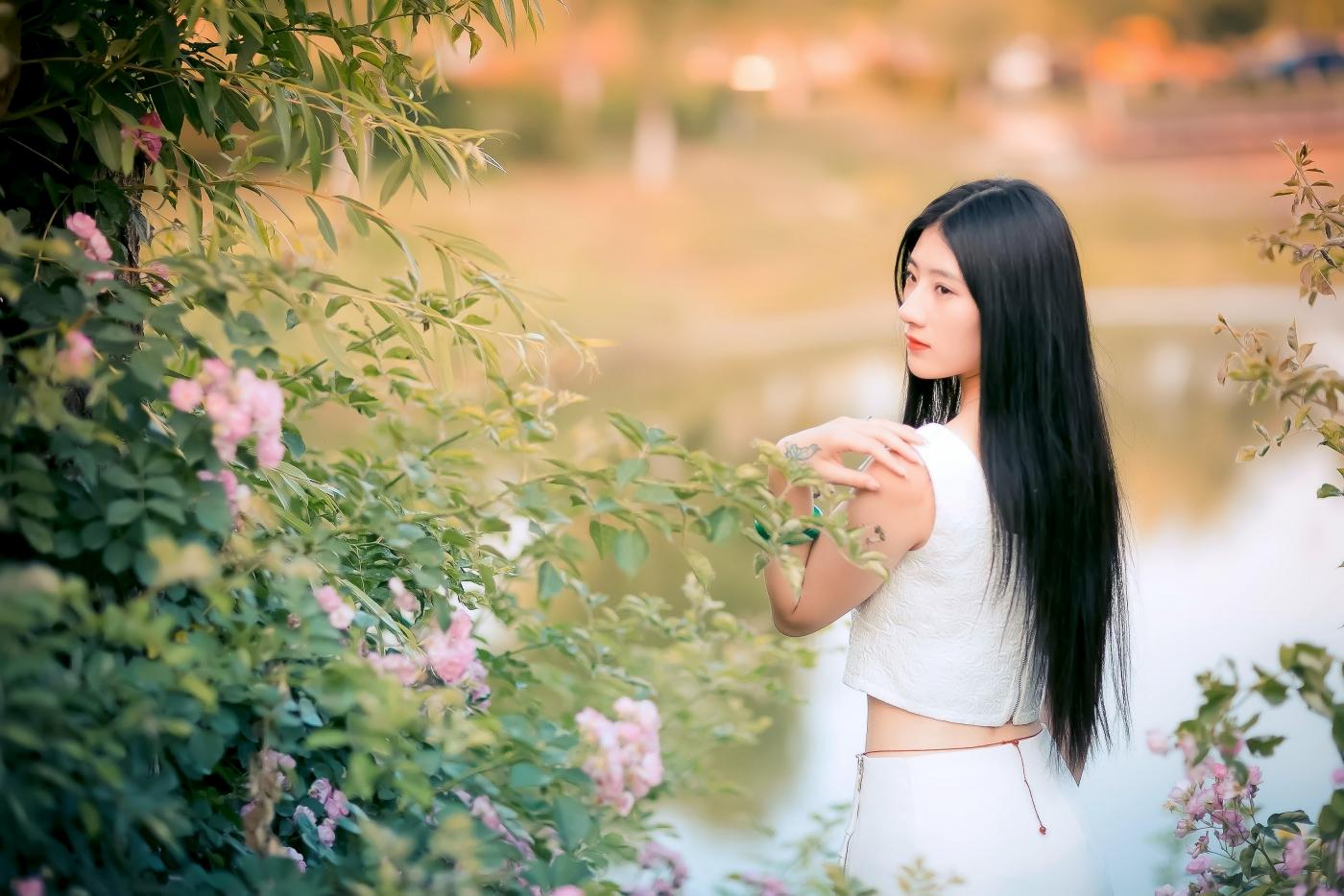 临沂大学有这么一道美丽的蔷薇长廊 当蔷薇MM王璐在她面前走过 ..._图1-18