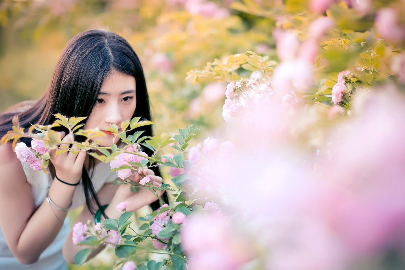 临沂大学有这么一道美丽的蔷薇长廊 当蔷薇MM王璐在她面前走过 ..._图1-20