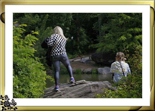 中央公园初夏,树木茂盛,花卉盛开,风景优美,游客兴旺! ..._图1-12
