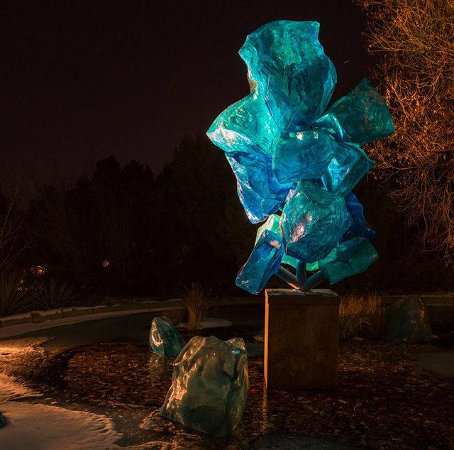 丹佛植物园拍玻璃雕塑_图1-14