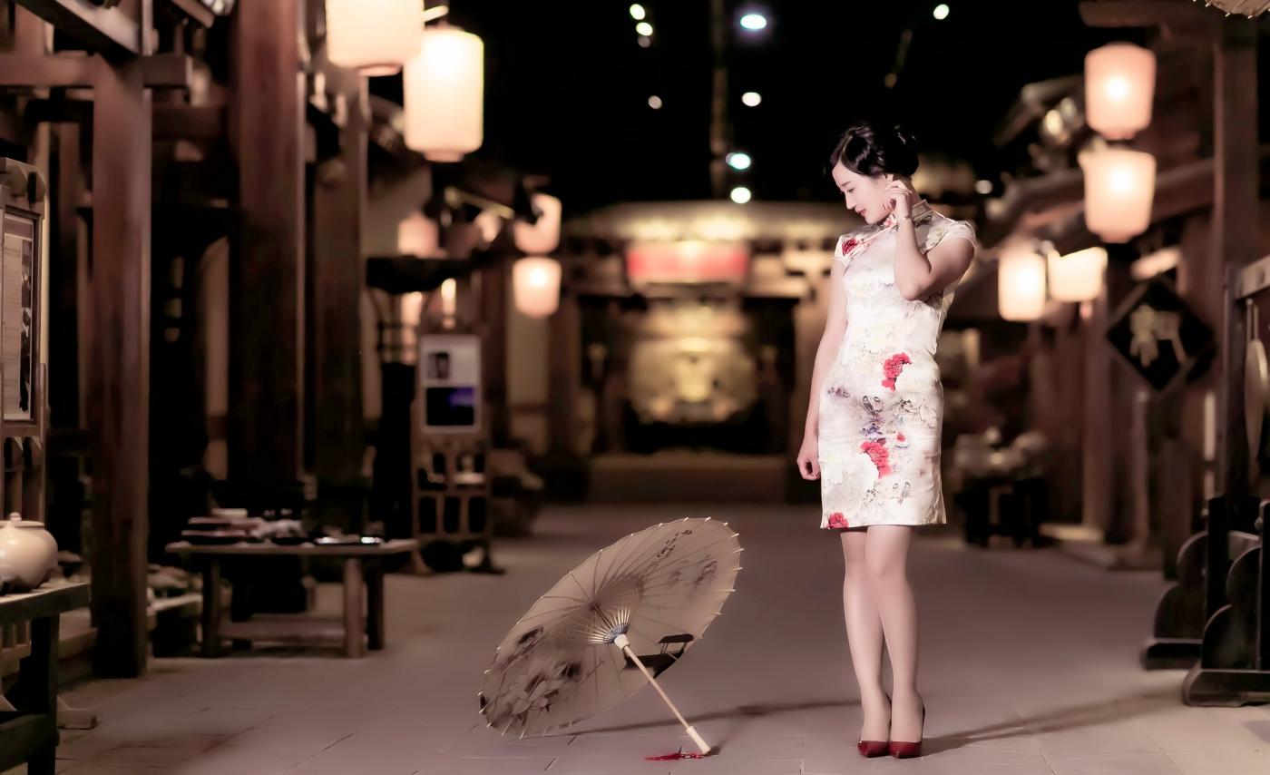当临沂女孩孔孙懿凡遇到旗袍 一样会像王的女人一样高贵典雅 ..._图1-10