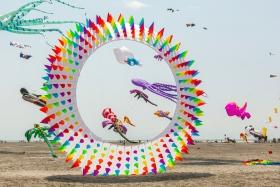 超大的风筝,真是少见