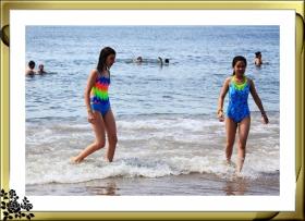 纽约康尼岛海滩夏日风情