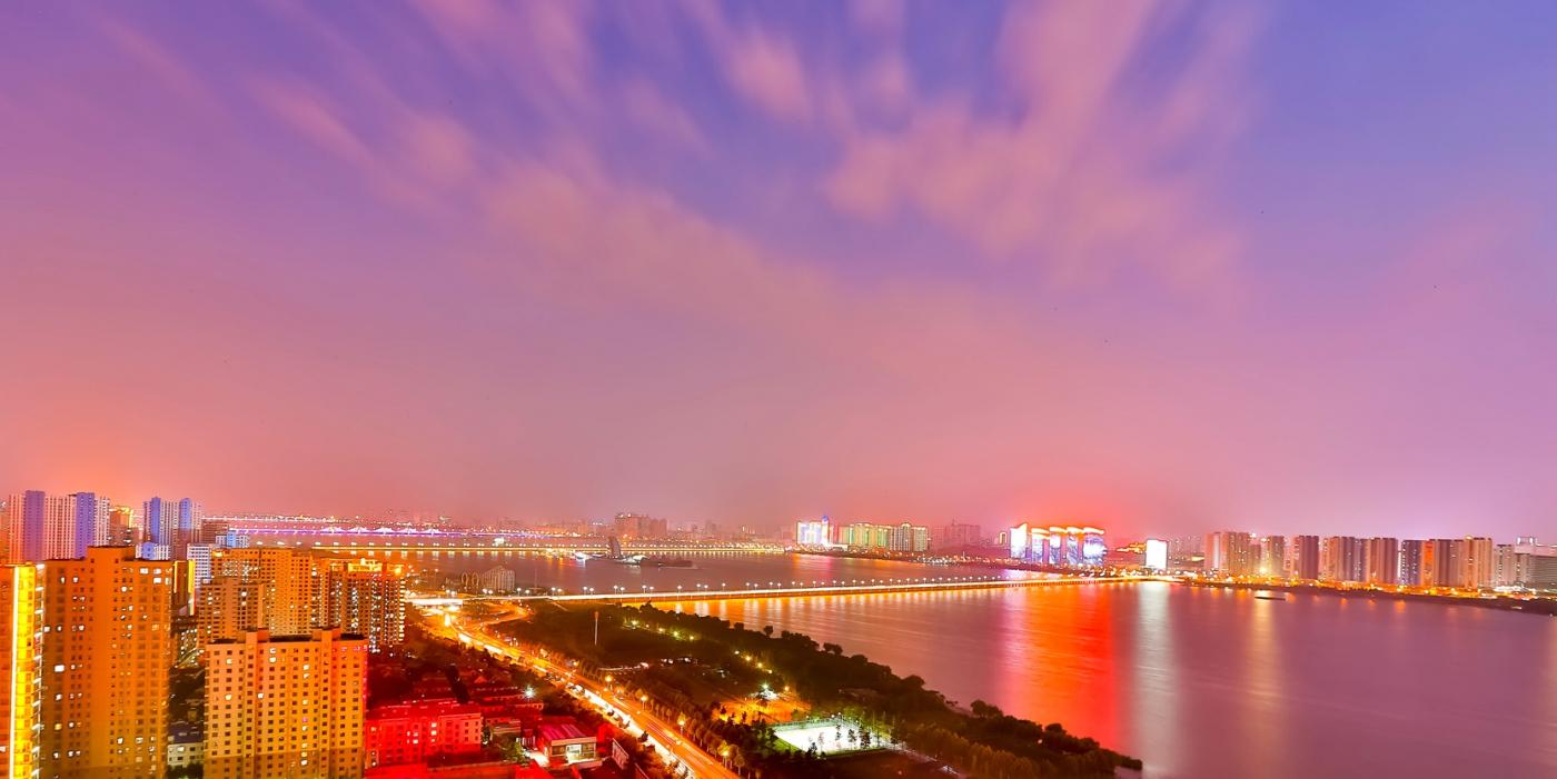 临沂暴雨以前的那个夜晚 从河东看临沂是这个样子的_图1-5