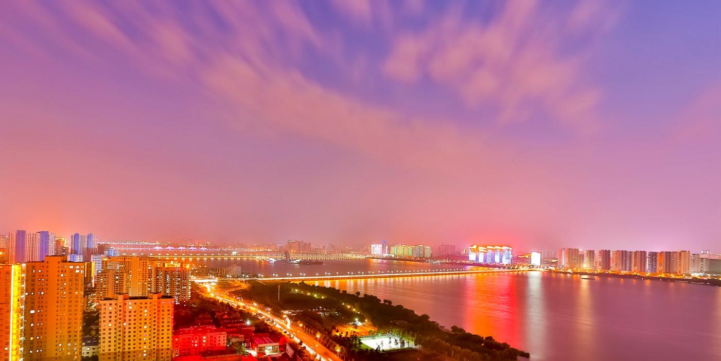 临沂暴雨以前的那个夜晚 从河东看临沂是这个样子的_图1-6