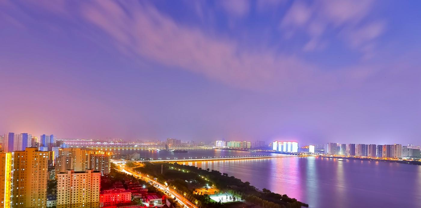 临沂暴雨以前的那个夜晚 从河东看临沂是这个样子的_图1-7