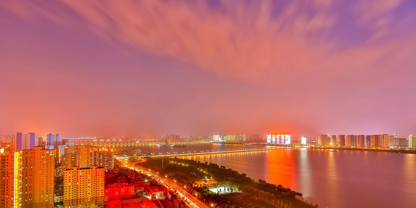 临沂暴雨以前的那个夜晚 从河东看临沂是这个样子的_图1-8